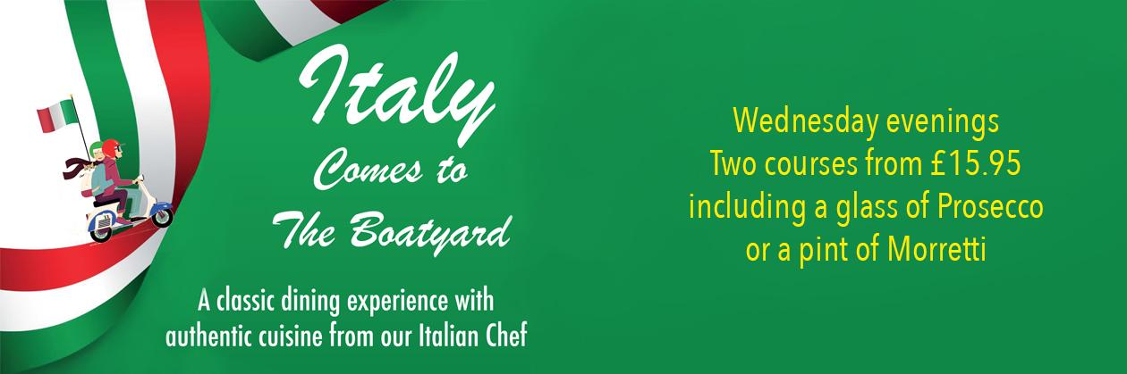 Italian Night at The Boatyard